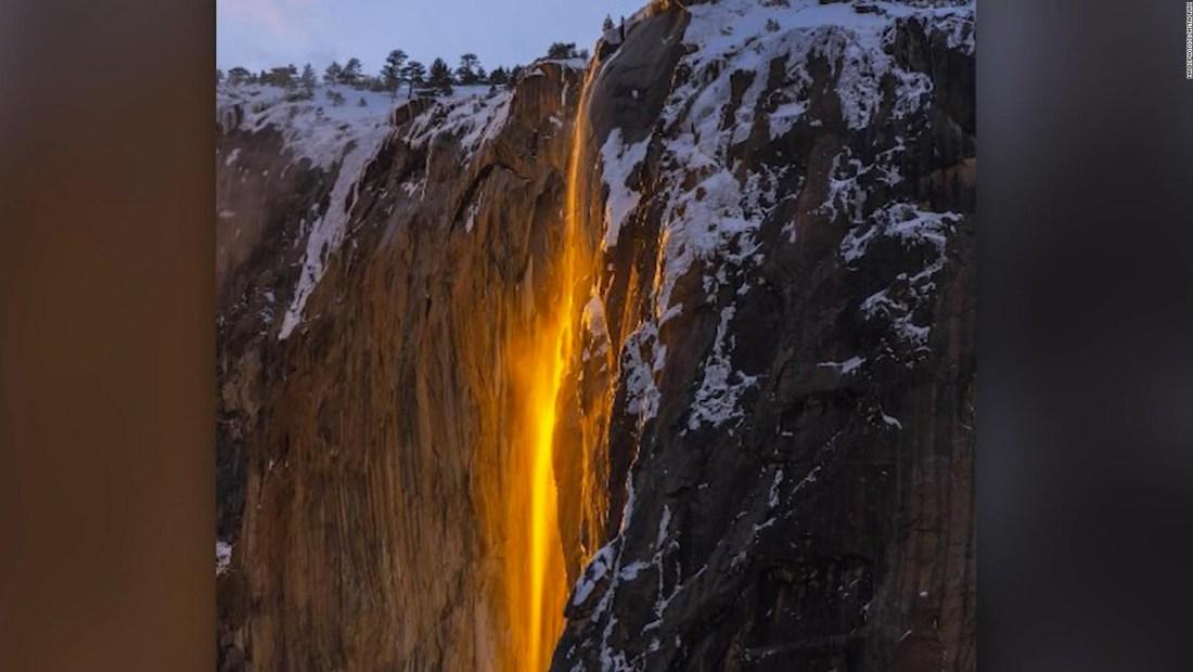 La cascada de fuego brilla de nuevo