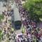 Video de dron muestra camiones con ayuda humanitaria