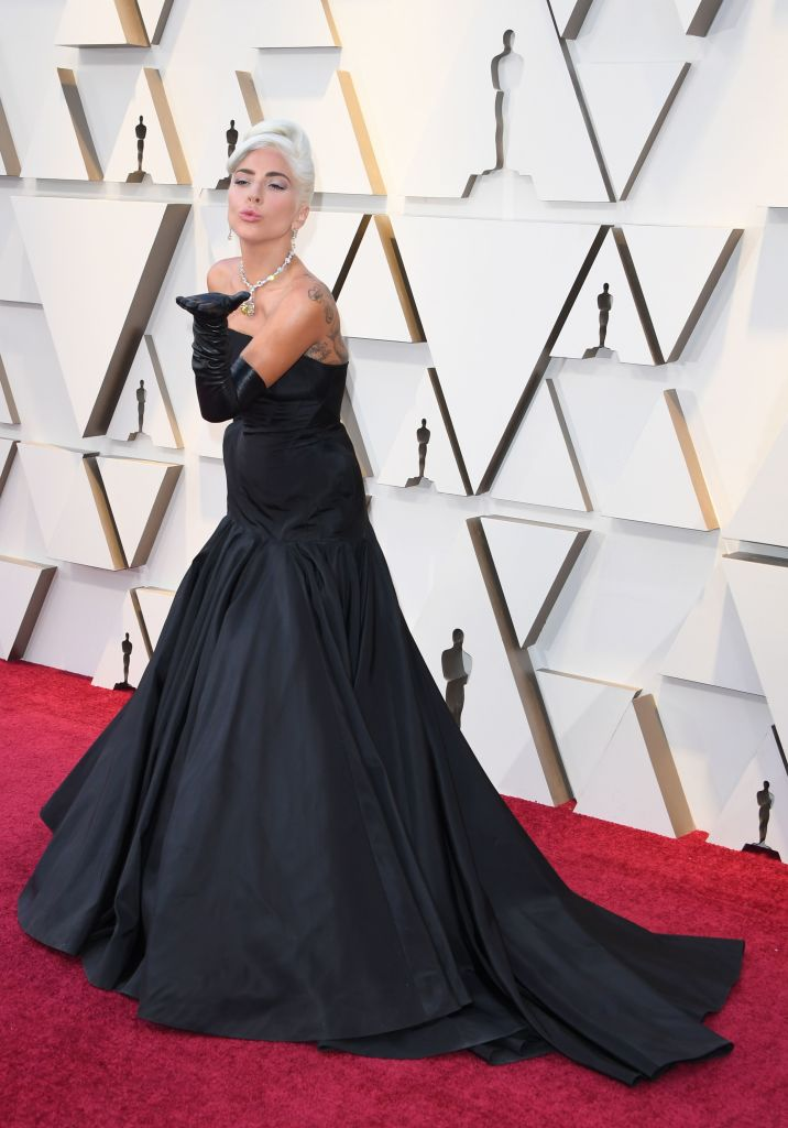 "Best Original Song nominee for ""Shallow"" from ""A Star is Born"" Lady Gaga arrives for the 91st Annual Academy Awards at the Dolby Theatre in Hollywood, California on February 24, 2019. (Photo by Mark RALSTON / AFP) (Photo credit should read MARK RALSTON/AFP/Getty Images)"
