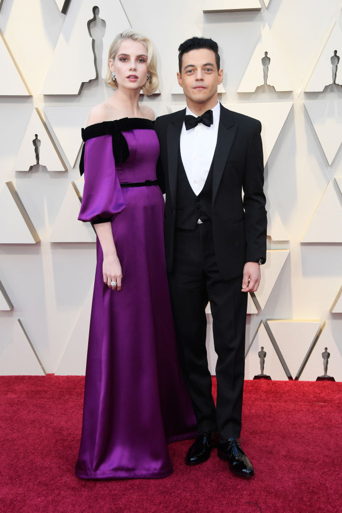 HOLLYWOOD, CALIFORNIA - FEBRUARY 24: (L-R) Lucy Boynton and Rami Malek attend the 91st Annual Academy Awards at Hollywood and Highland on February 24, 2019 in Hollywood, California. (Photo by Frazer Harrison/Getty Images)