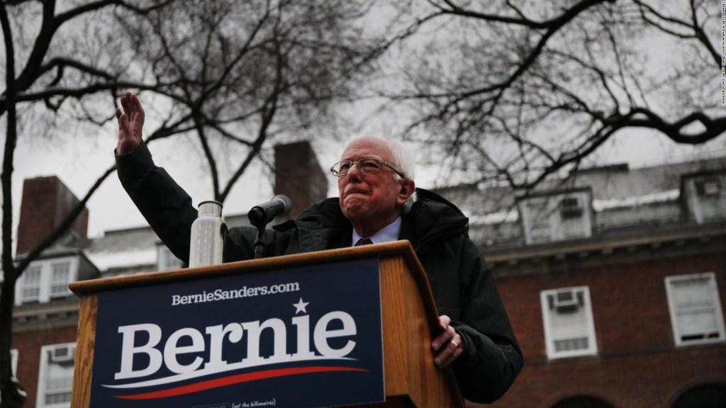 Bernie Sanders ataca a Trump en acto de campaña