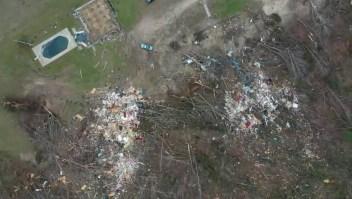 La destrucción en Alabama, desde un dron