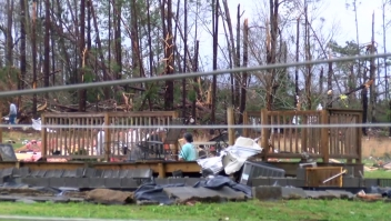 La casa de Jessica Chandler quedó completamente destruida.