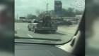 Mira la inusual manera de transportar un caballo
