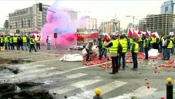 Protesta de granjeros en Polonia
