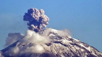 México: Violenta erupción del volcán Popocatépetl