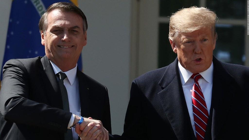 Trump y Bolsonaro hablan sobre las visas de viaje