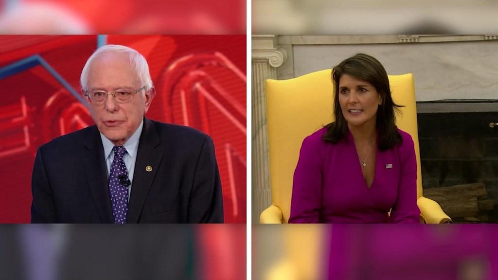 Batalla de tuits entre Bernie Sanders, Nikky Haley y el embajador de Finlandia en la ONU