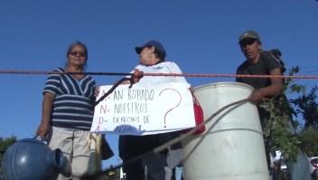 Salvadoreños protestan por falta de agua potable