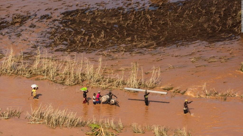 Dron muestra la destrucción del ciclón Idai en Mozambique