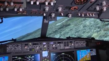Así es el simulador de vuelo de un Boeing MAX 8