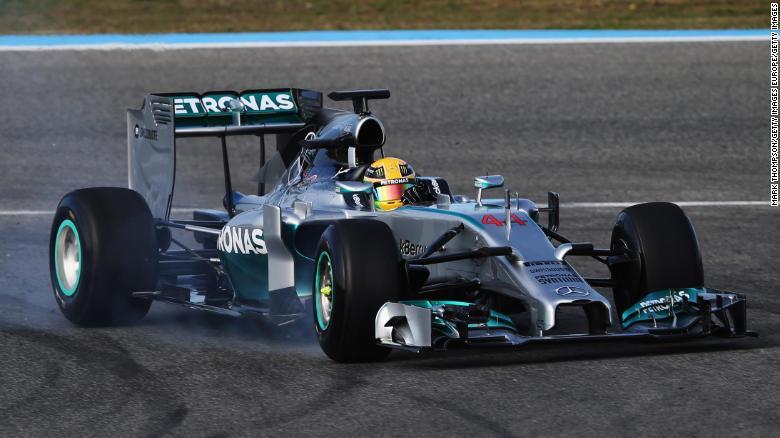 Mercedes W05, Lewis Hamilton
