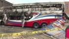 Incendio de autobús en Lima deja varios muertos