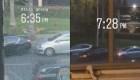 Dos autos batallan por un puesto de estacionamiento