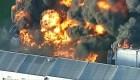 Voraz incendio en planta de desechos en Melbourne