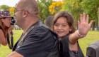 Motociclistas se unen para celebrar cumpleaños de una niña