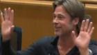 Interrumpen a Brad Pitt durante su discurso