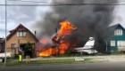 Avioneta cae sobre casa en Chile