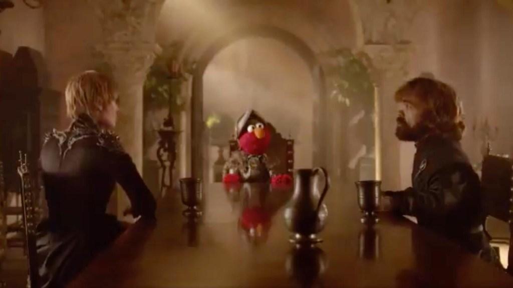 Elmo quiere detener la guerra por el trono de hierro