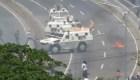 Tanqueta de la GNB arrolla a civiles