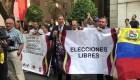 Venezolanos se manifiestan en México