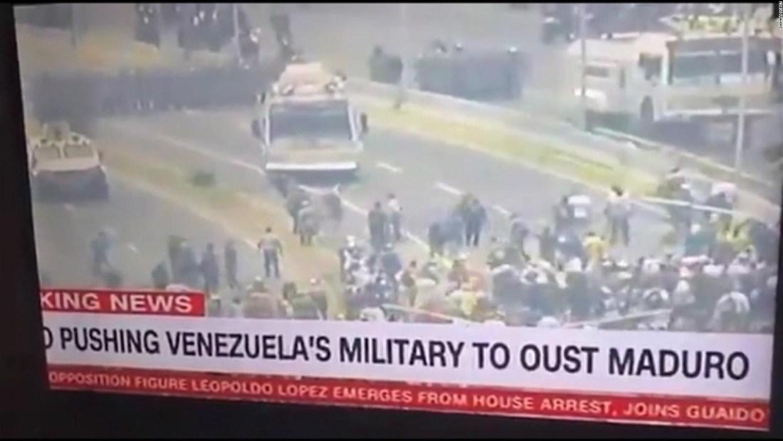 El momento cuando quitan señal de CNN en inglés