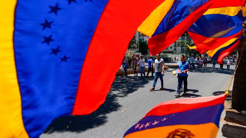 venezuela ayuda humanitaria bandera venezolanos
