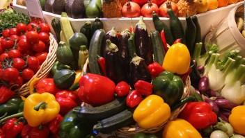 Elementos de una cena vegana