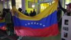 La protesta de venezolanos en Los Ángeles