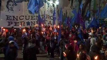 Marcha de antorchas por los 100 años del natalicio de Evita