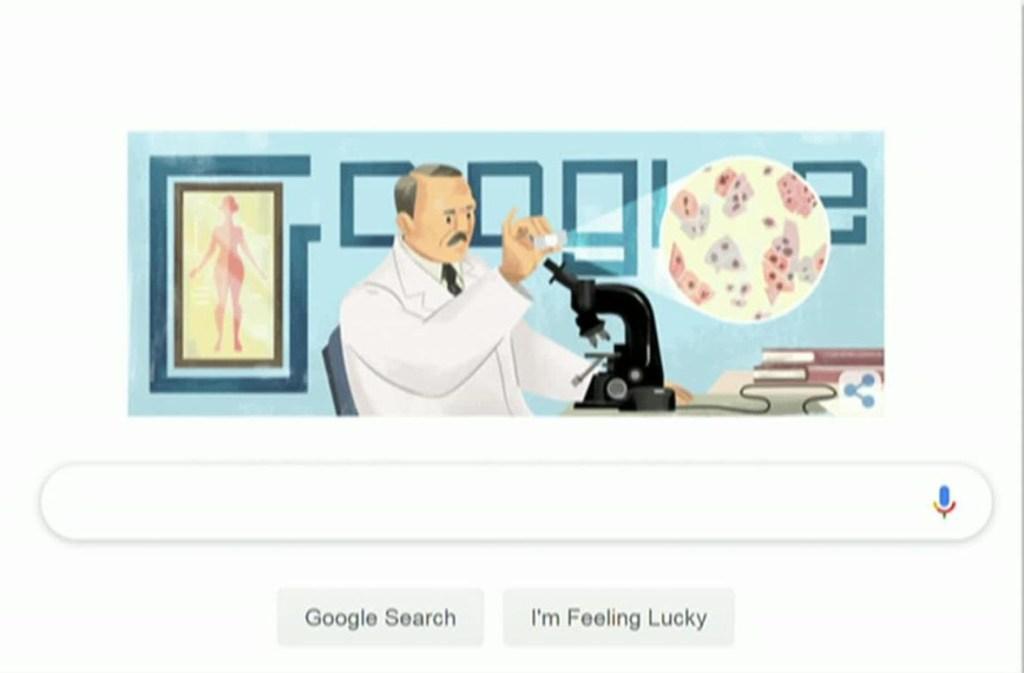 Google Doodle honra al Dr. George Papanicolaou