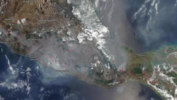 Incendios forestales: el humo se ve desde el espacio