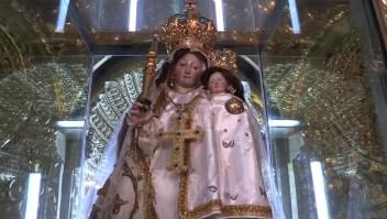 #ElDatoDeHoy: Mosaico de la Virgen del Quinche en los jardines del Vaticano