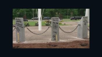 Vandalizan monumento a los veteranos de Vietnam