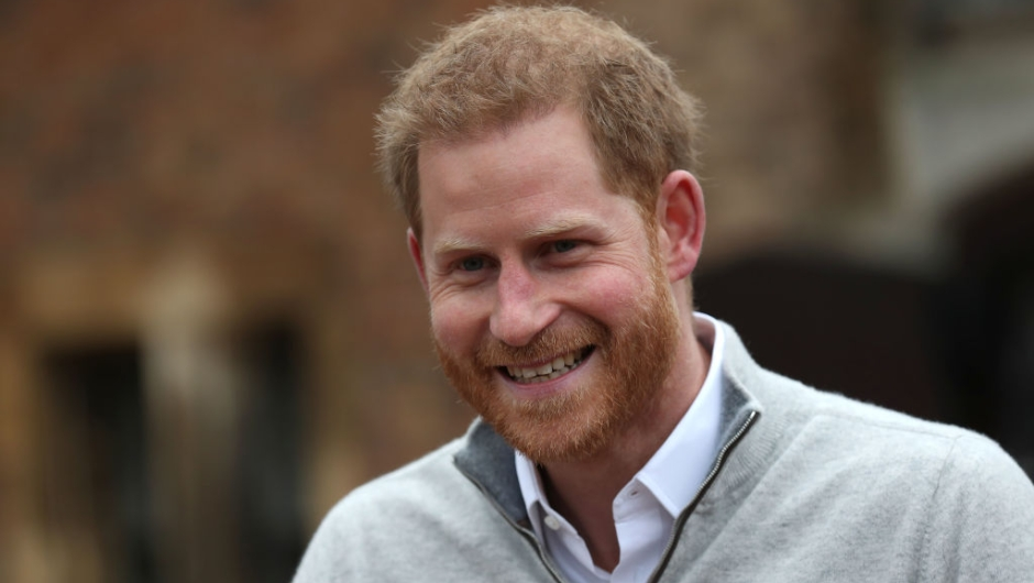 "Britain's Prince Harry, Duke of Sussex, speaks to members of the media at Windsor Castle in Windsor, west of London on May 6, 2019, following the announcement that his wifw, Britain's Meghan, Duchess of Sussex has given birth to a son. - Meghan Markle, the Duchess of Sussex, gave birth on Monday to a ""very healthy"" boy, Prince Harry announced. ""We're delighted to announce that Meghan and myself had a baby boy early this morning -- a very healthy boy,"" a beaming Prince Harry said. (Photo by Steve Parsons / POOL / AFP) (Photo credit should read STEVE PARSONS/AFP/Getty Images)"