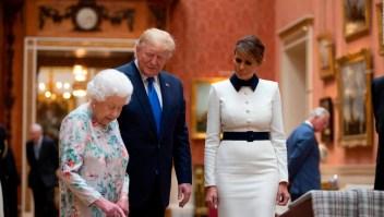 Donald Trump llega a su primera visita de Estado a Gran Bretaña