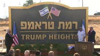 """""""Trump Heights"""", el nuevo asentamiento de Israel"""