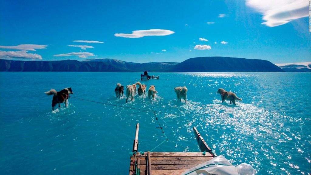 Imagen en Groenlandia revela signos del cambio climático