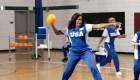 Obama y su equipo se coronan campeonas del dodgeball