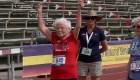 """""""Huracán"""" Hawking, la corredora de 103 años"""