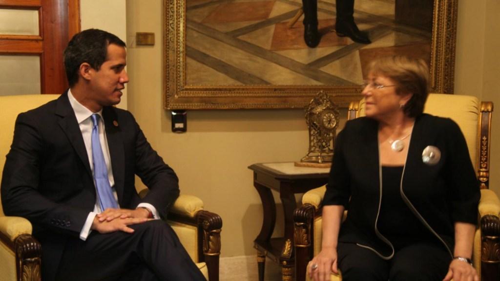 Guaidó se reúne con Bachelet en Venezuela