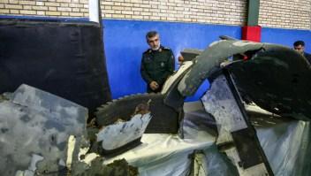 Irán presenta imágenes del dron de EE.UU. derribado
