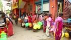 Así viven en la India la grave crisis de agua