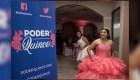 Quinceañera promueve el voto en su fiesta