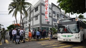 Masiva detención de migrantes en hoteles del estado de Veracruz