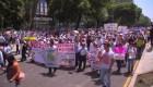 Mexicanos protestan en contra de AMLO