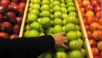 Bacterias manzanas orgánicas