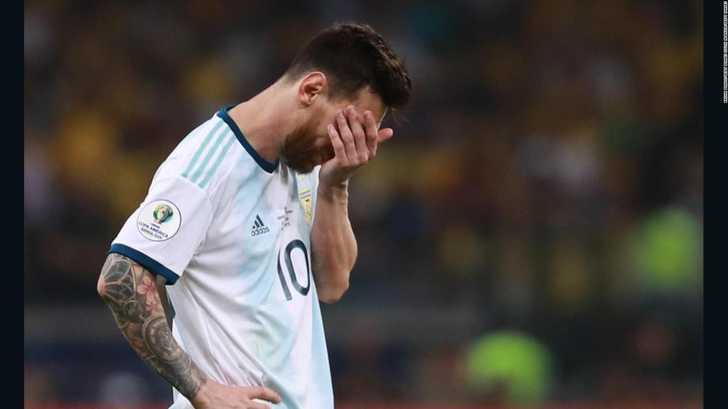 Messi indignado con el árbitraje de la Copa América