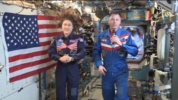 Astronautas envían un mensaje por el 4 de julio