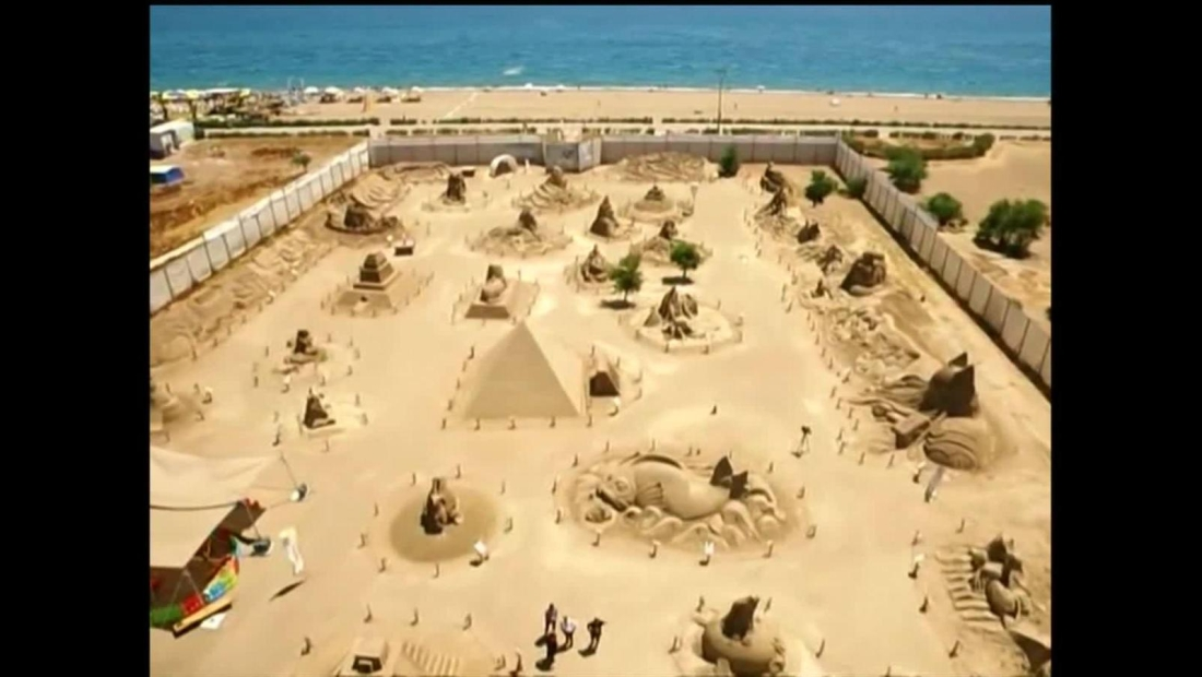 Increíbles esculturas de arena ahora están en un museo